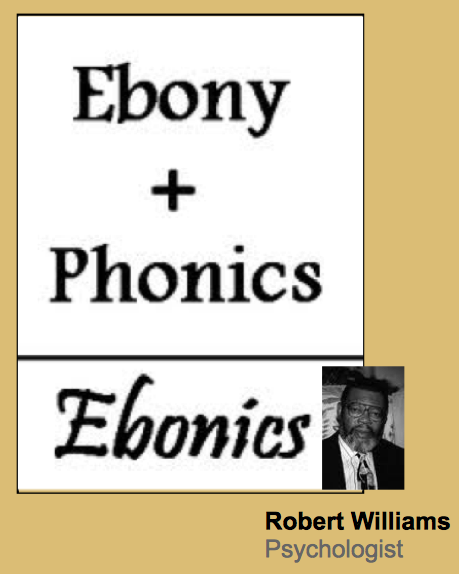 a discussion of whether ebonics should be taught in high schools